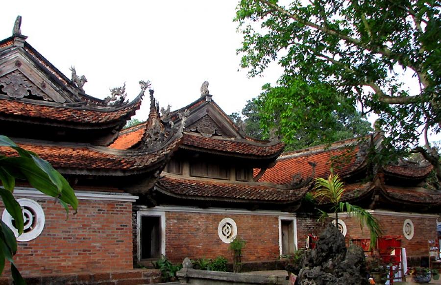 Kim Lien Pagoda In Hanoi City, Vietnam